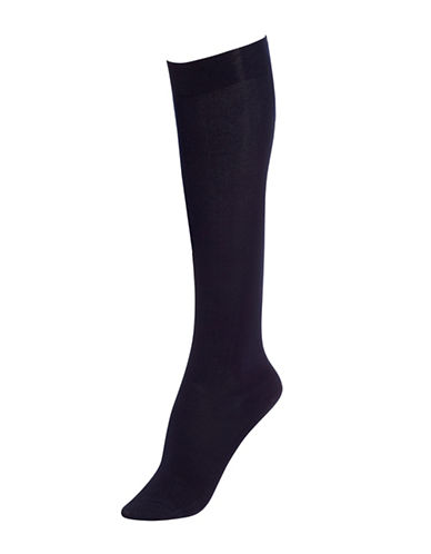 Hue Modal Knee Socks-NAVY-One Size