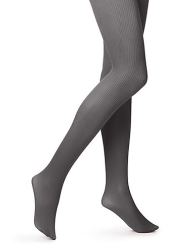 Hue Sweater Ribbed Control Top Tights-GRAPHITE-2X