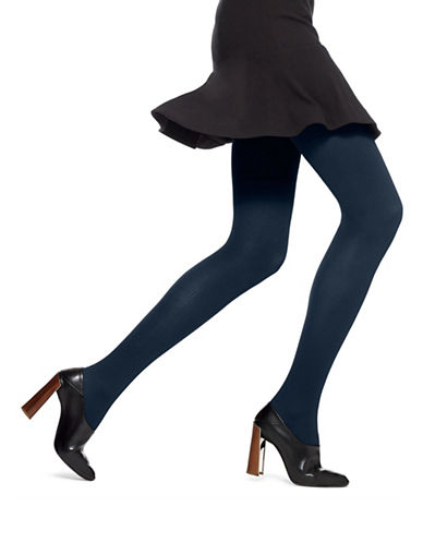 Hue Classic Rib Tights with Control Top-NAVY-2X