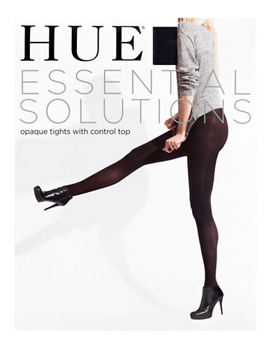 Hue Essential Solutions Opaque Control Top Sheer-BLACK-3