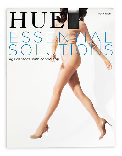 Hue Essential Solutions Age Defiance Sheer with Control Top-BLACK-1