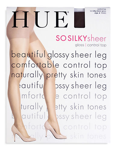 Hue Gloss Control Top Tights-BLACK-2