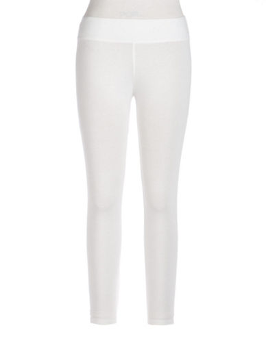 Hue Ultra Capri Leggings-WHITE-Small