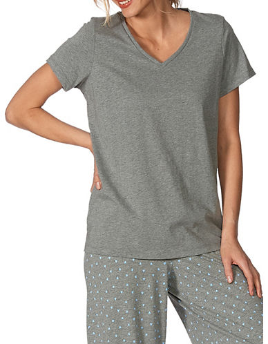 Hue V-Neck T-Shirt-GREY-Large 87464998_GREY_Large