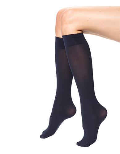 Hue Opaque Knee High-NAVY-1