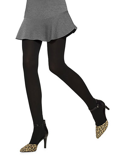 Hue Opaque Tights with Control Top-BLACK-5