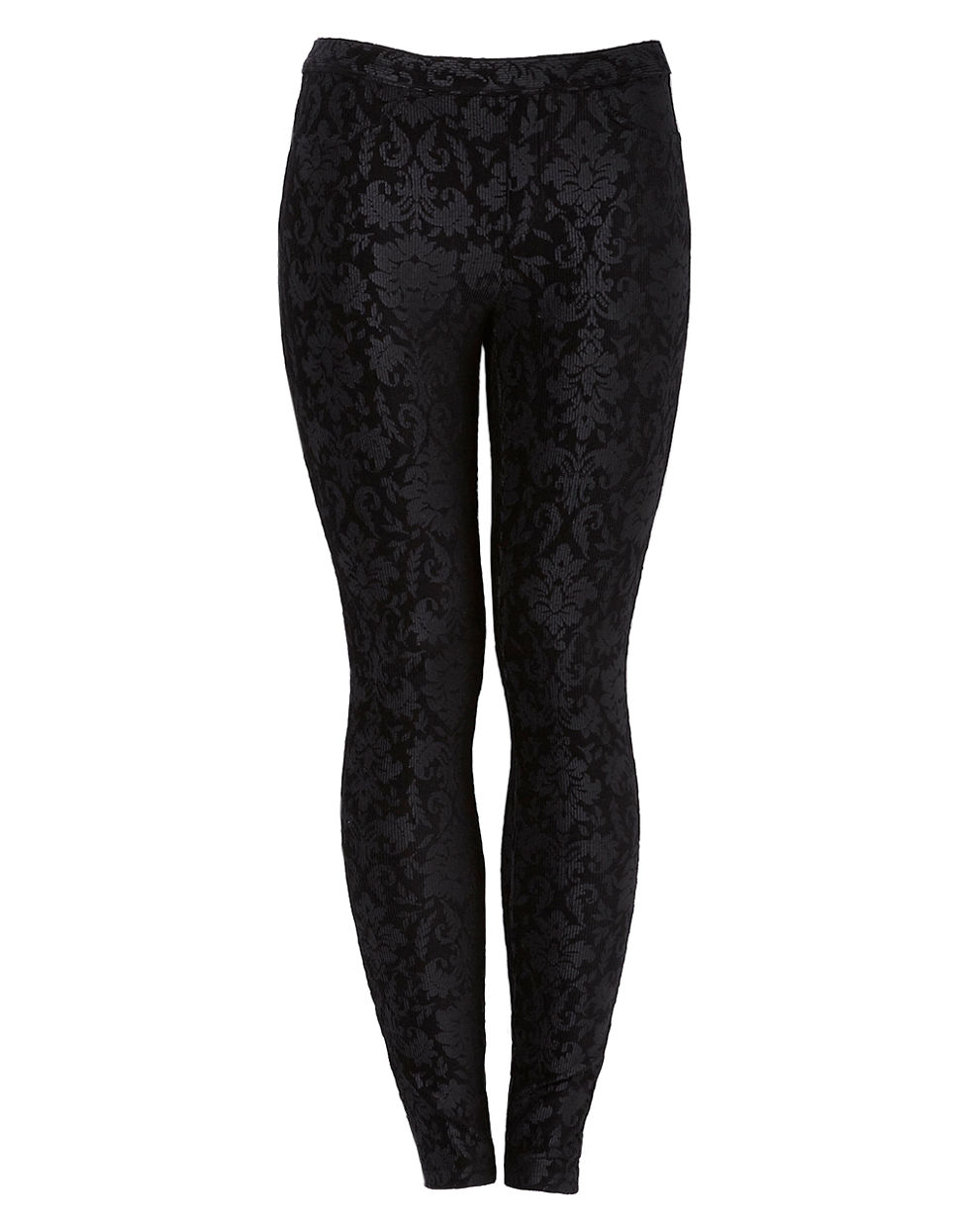 Hue Tapestry Corduroy Legging black Small
