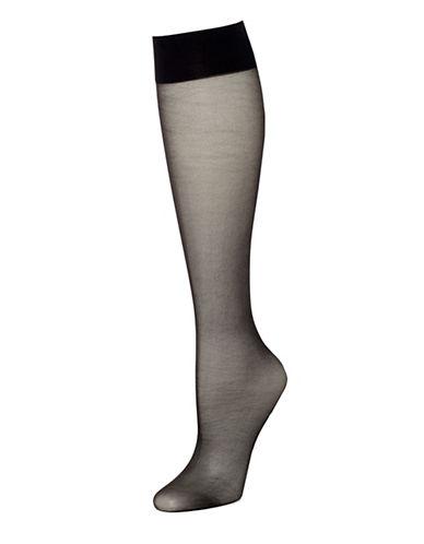 Hue Sheer Knee High 2 Pair Pack-BLACK-1