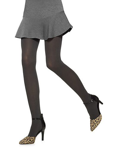 Hue Opaque Control Top Tights-GREY-2
