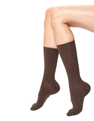 Hue Jean Sock-DARK BROWN-One Size