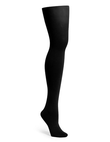 Hue Super Opaque Tights with Control Top-BLACK-1