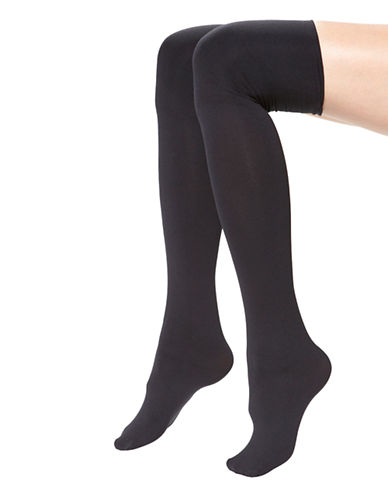 Hue Over the Knee Boot Liners-BLACK-One Size