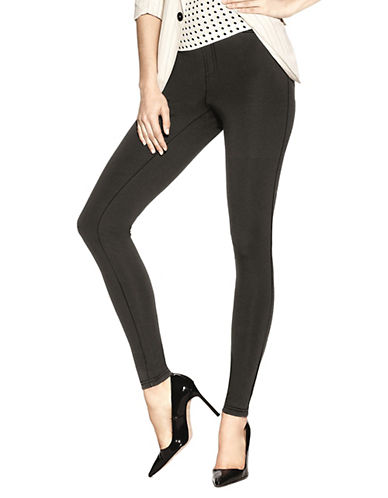 Hue Ponte Legging-BLACK-Large