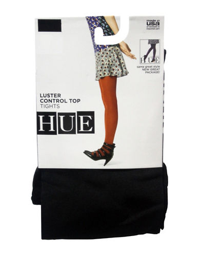 Hue Luster Control Top Tights-BLACK-1