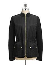 JONES NEW YORK SIGNATUREZip Front Sweater Jacket