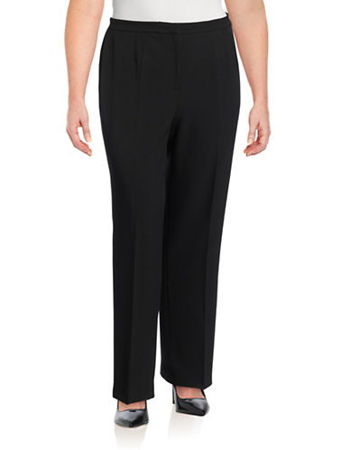 Kasper Suits Kate Stretch Crepe Pants-BLACK-14
