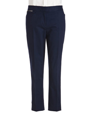 Jones New York Signature Crop Trouser-NAVY-4