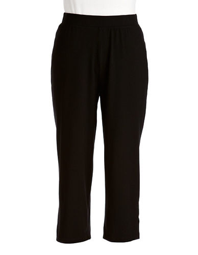 J jones new york Cropped Jersey Stretch Pants black Small