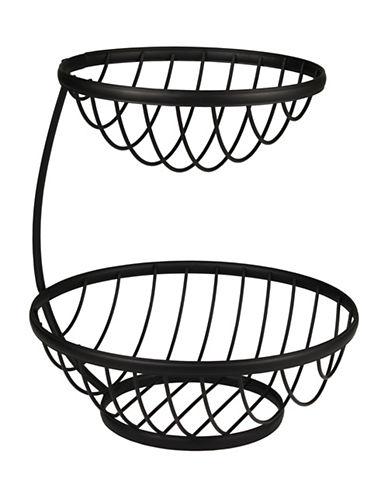 Spectrum Ashley Arched Two-Tier Fruit Basket-BLACK-One Size 88912476_BLACK_One Size