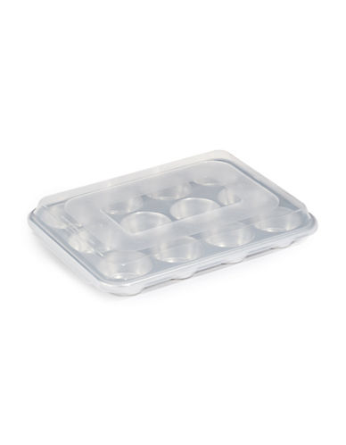 Nordicware 12 Cup Muffin Pan with Lid-SILVER-One Size