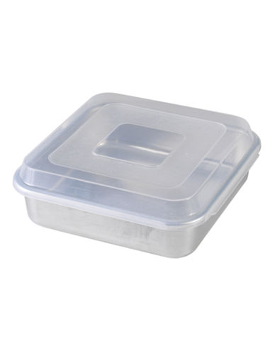 Nordicware Covered Square Baking Pan-SILVER-One Size