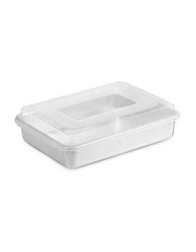 Nordicware Cake Pan with Lid-SILVER-One Size