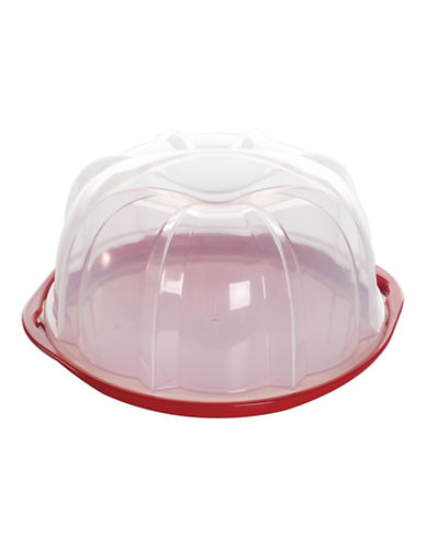 Nordicware Translucent Bundt Cake Keeper-RED-One Size