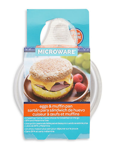 Nordicware Microwavable Egg and Muffin Pan-WHITE-One Size