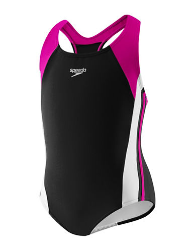 Speedo Infinity Splice One Piece-BLACK-6X