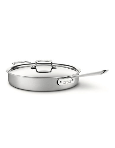 All-Clad Tri-Ply Saute Pan with Lid-STAINLESS STEEL-6