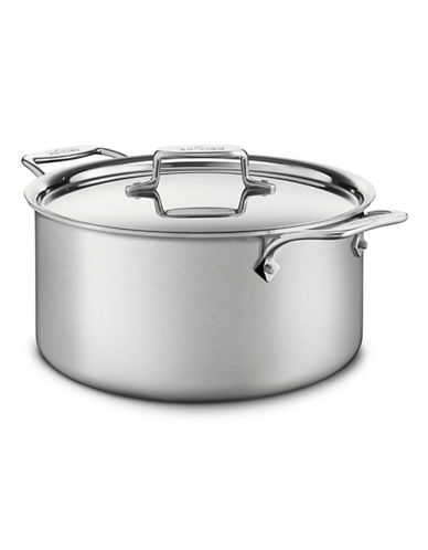 All-Clad BD5 Stockpot with Lid-STAINLESS STEEL-One Size