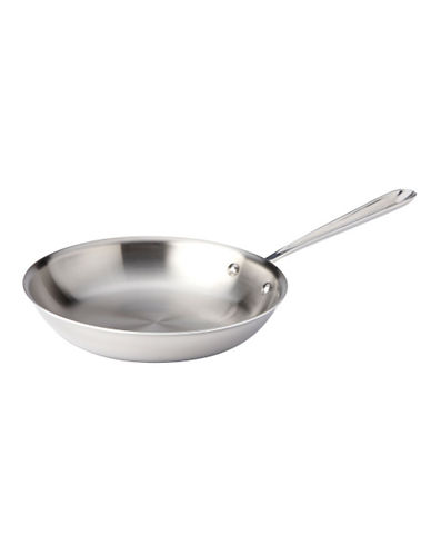 All-Clad 10 Inch 25.4cm Stainless Steel Fry Pan-SILVER-One Size