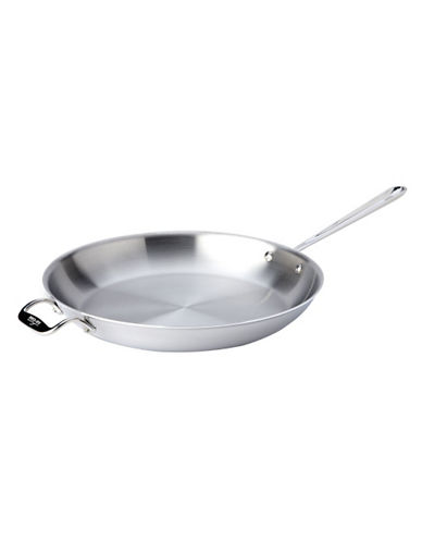 All-Clad 14 Inch 35.5cm Stainless Steel Fry Pan-SILVER-One Size