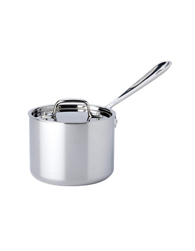 All-Clad 2 quart Stainless Steel Sauce Pan with Lid-SILVER-2 quart