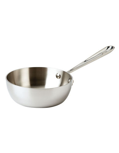 All-Clad 1 quart Stainless Steel Saucier-SILVER-One Size