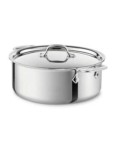 All-Clad 6-Quart Stainless Steel Stockpot-STAINLESS STEEL-One Size