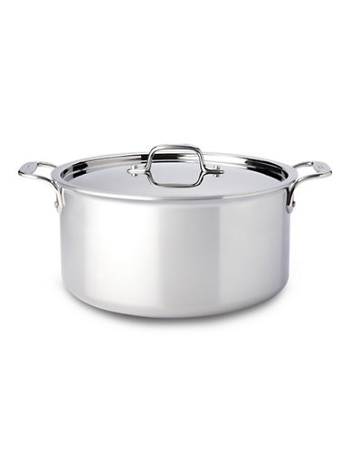 All-Clad 8 Qt. Stockpot with Lid, Stainless Steel-STAINLESS STEEL-One Size