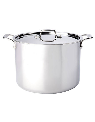 All-Clad 12 quart Stainless Steel Stockpot with Lid-SILVER-One Size