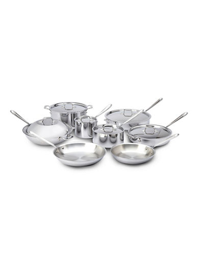 All-Clad Tri-Ply 14-Piece Cookware Set-STAINLESS STEEL-One Size