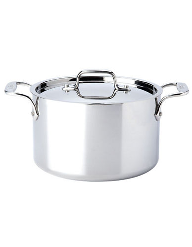 All-Clad 4 quart Stainless Steel Casserole with Lid-SILVER-One Size