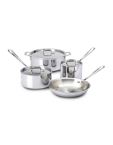 All-Clad 7 Piece Stainless Steel Cookware Set-STAINLESS STEEL-One Size