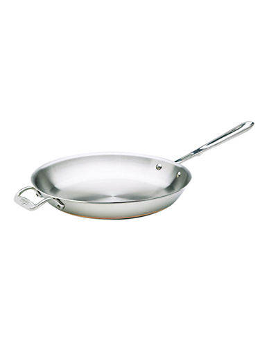 All-Clad 12 Inch Stainless Steel Copper Core Frypan-SILVER-One Size