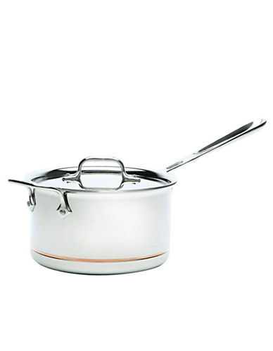 All-Clad 4 Quart Sauce Pan With Lid Copper-Core-STAINLESS STEEL-One Size