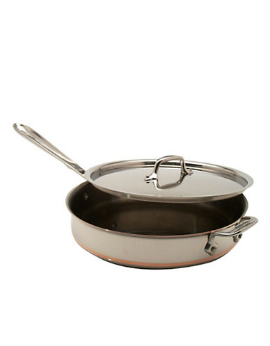 All-Clad 3 Quart Saute Pan With Lid Copper Core-STAINLESS STEEL-One Size