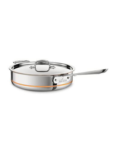 All-Clad Copper Core 4qt Saute Pan with Lid-STAINLESS STEEL-One Size