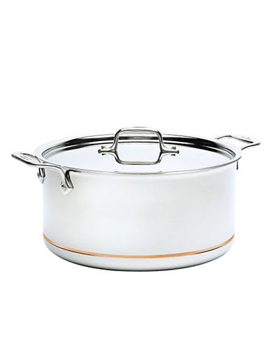 All-Clad Quart Stock Pot with Lid Copper Core-STAINLESS STEEL-One Size