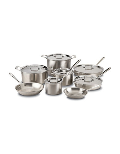 All-Clad 14-Piece Brushed D5 Cookware Set-STAINLESS STEEL-One Size