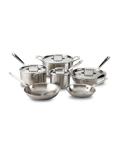 All-Clad All Clad Brushed D5 10-Piece Set-STAINLESS STEEL-One Size