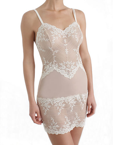Wacoal Wacoal Embrace Lace Chemise-BEIGE-X-Large plus size,  plus size fashion plus size appare