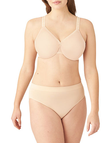 Wacoal Plus Simple Shaping Seamless Minimizer-NATURALLY NUDE-36C